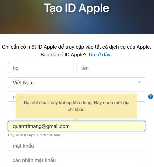 Hướng dẫn tạo ID Apple đơn giản