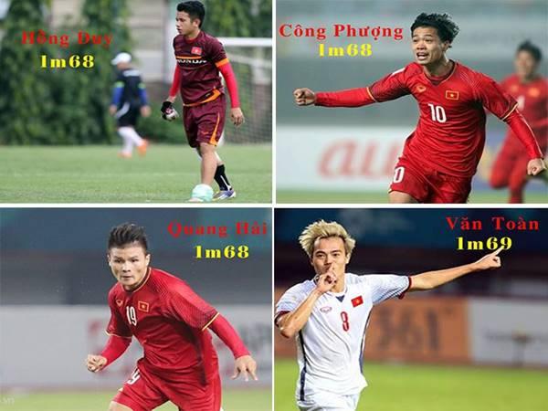 Nhóm cầu thủ Việt Nam có chiều cao 1m7