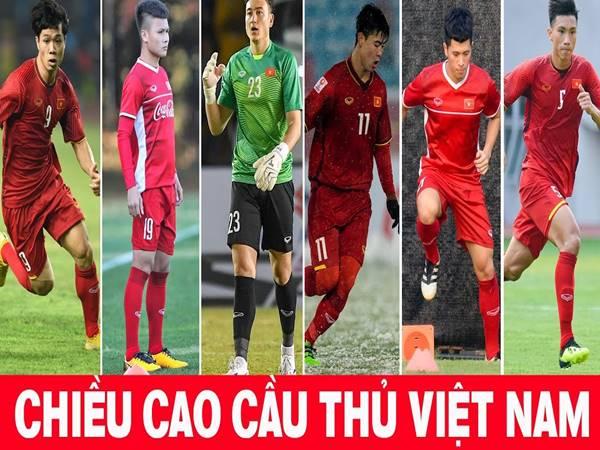 Chiều cao của các cầu thủ Việt Nam – Những con số đầy ấn tượng